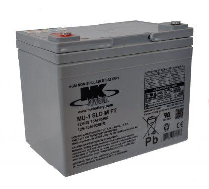 12V 35Ah MK Sealed Lead Acid (AGM) Mobility Scooter Battery