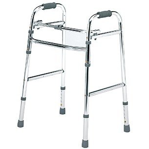 Folding Lightweight Walking Frame with 2 Front Castors