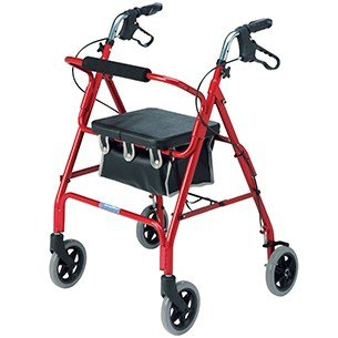 Lightweight 4 Wheel Rollator 15cm Wheels