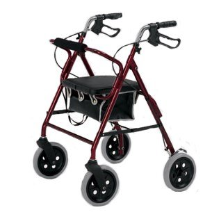 Lightweight 4 Wheel Rollator 20cm Wheels