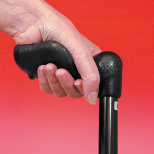 Arthritis Grip Cane Adjustable - Black Right Hand