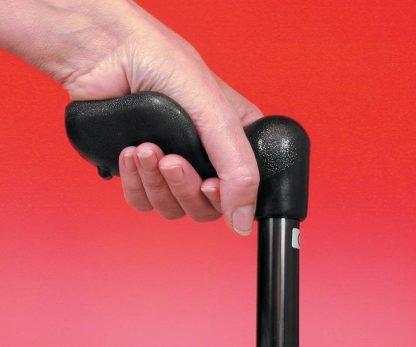 Arthritis Grip Cane Adjustable - Black Right Hand