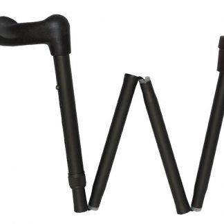Arthritis Grip Cane Adjustable, Folding - Black, R