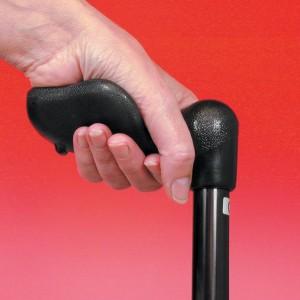 Arthritis Grip Cane Adjustable - Black, Left Hande