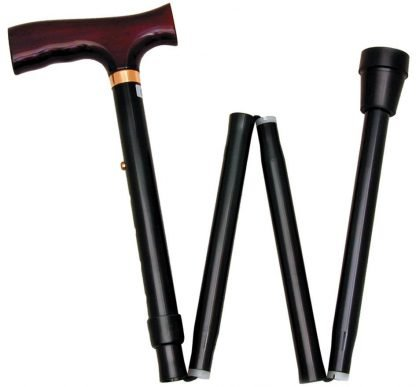 Folding Adjustable Walking Sticks (Black)