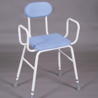 Perching Stool PU Seat - arms and padded back