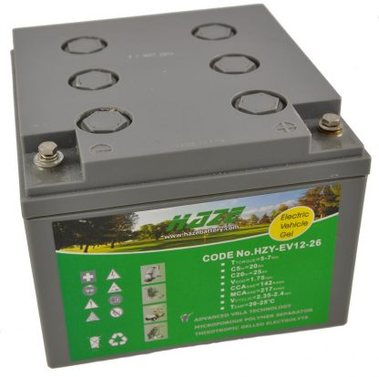 12V 26Ah HAZE GEL battery for Mobility Scooters & Powerchairs