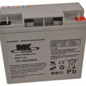 12V 18Ah MK Sealed Lead Acid (AGM) Mobility Scooter Battery
