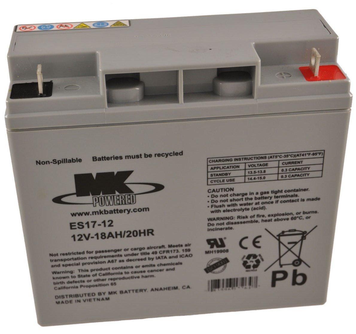12v 18ah Battery >> 12v 18ah Mk Sealed Lead Acid Agm Mobility Scooter Battery