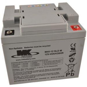 12V 45Ah MK Sealed Lead Acid (AGM) Mobility Scooter Battery