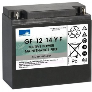 12V 15Ah Sonnenschein GEL battery for Mobility Scooters & Powerchairs