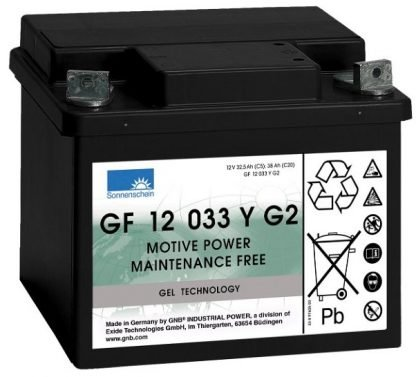 12V 38Ah Sonnenschein GEL battery for Power Scooters