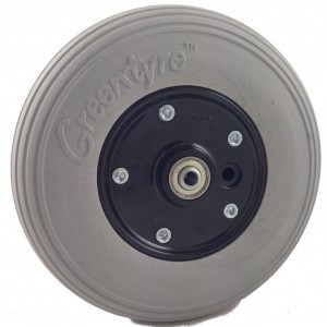 "8"" x 2"" (200mm x 50mm) Powerchair Castor Wheel with PU Tyre"