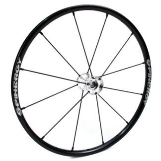 "24"" Spinergy LX Wheel - Black Rim, Silver Hub, 12 Spokes"