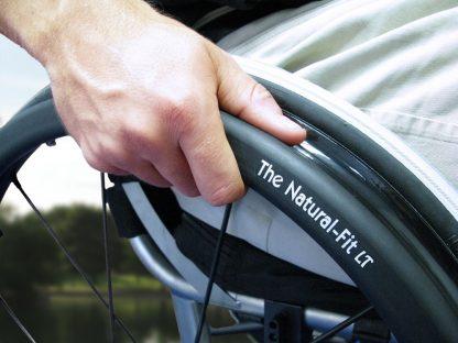 Natural-Fit LT Oval Handrim With Super Grip Thumb Guard
