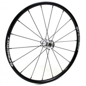 "24"" Spinergy Everyday Wheel - Black Rim, Silver Hub, 18 Spokes"